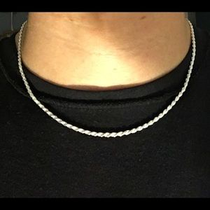 Solid Silver Chain Rope Chain 18in 2.5mm .925